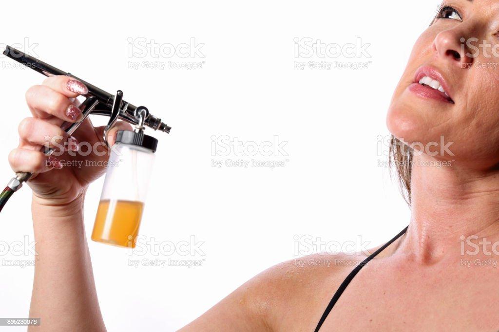 Spray Tan stock photo
