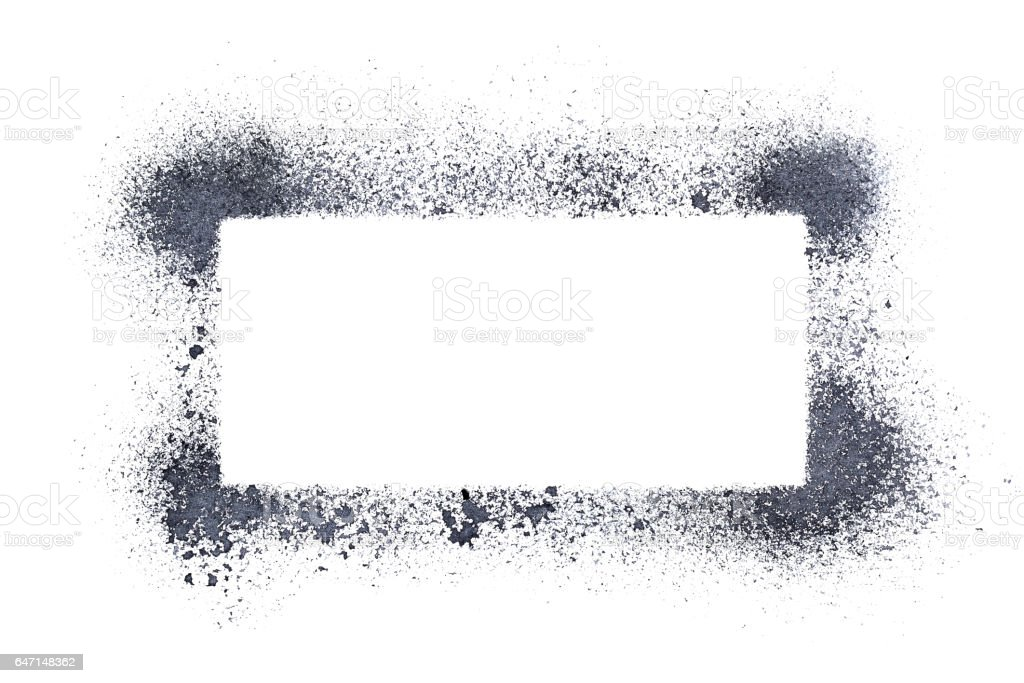 Sprayed Stencil Frame Stock Photo & More Pictures of Abstract | iStock