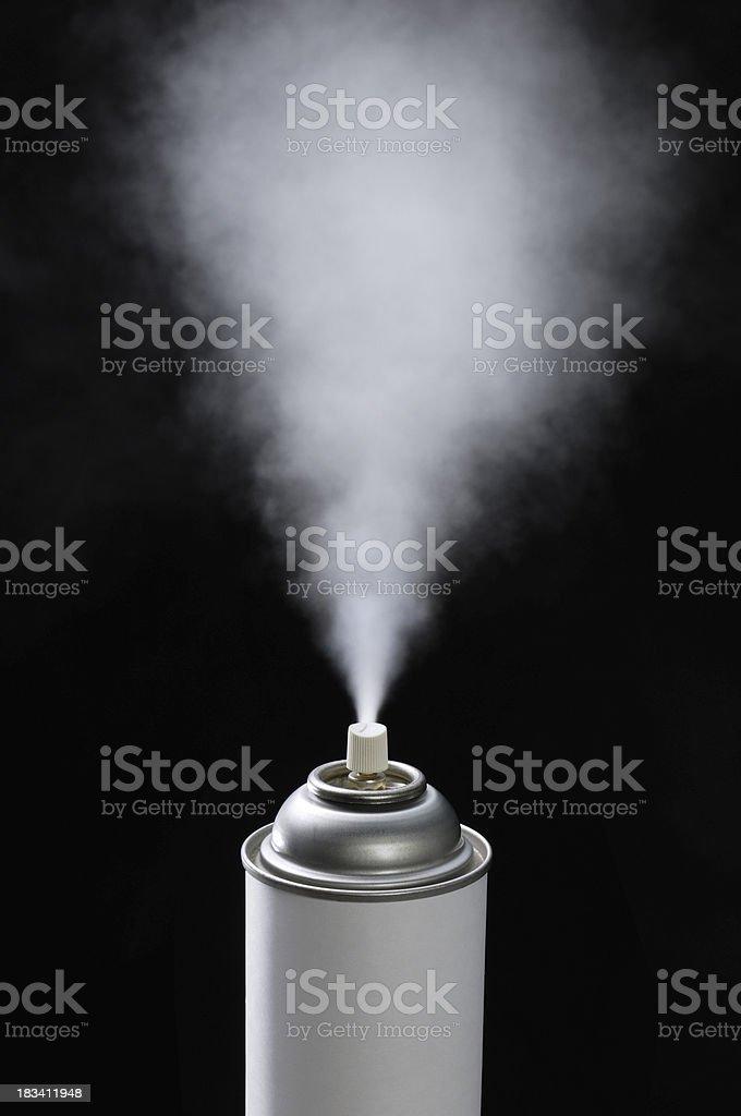 Spraying royalty-free stock photo