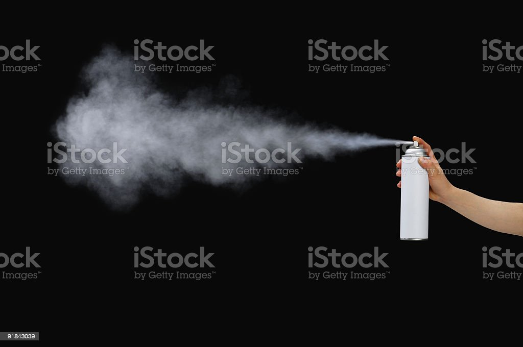 Spraying stock photo
