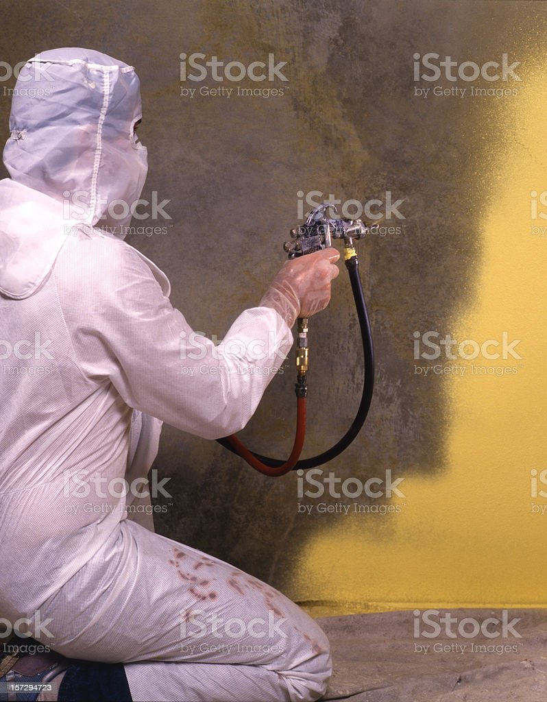 spraypainting royalty-free stock photo