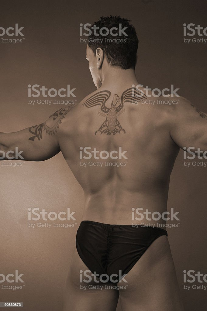 spread eagle stock photo