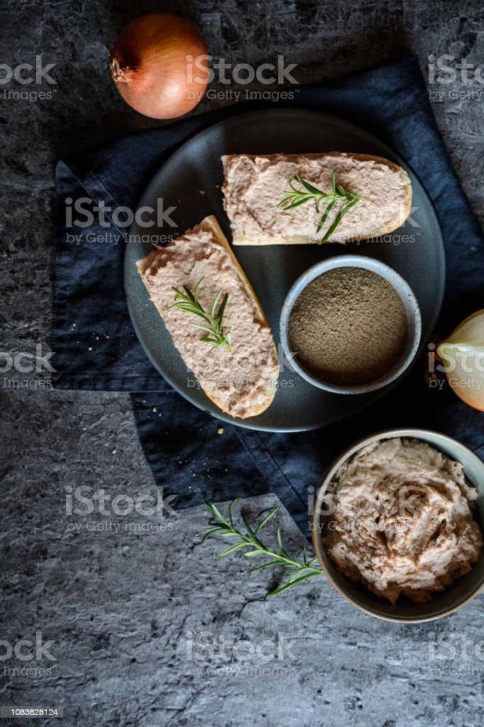 Delicious spread made of turkey meat, onion, cheese and mustard
