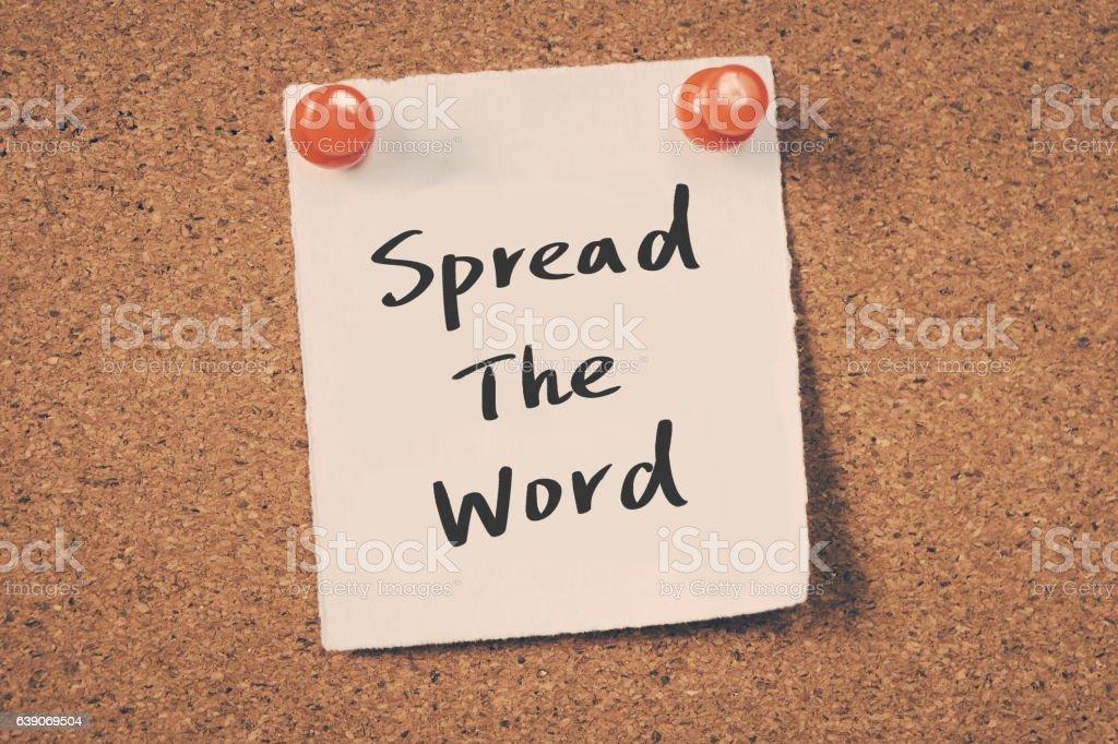 Spread th word stock photo