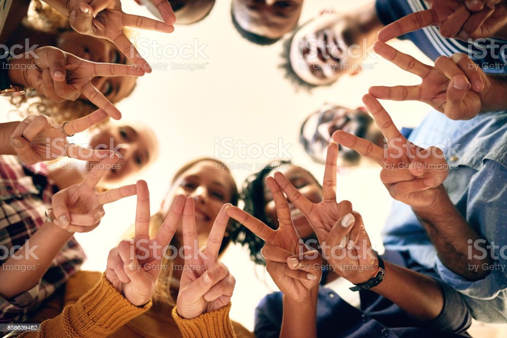 Spread the peace stock photo