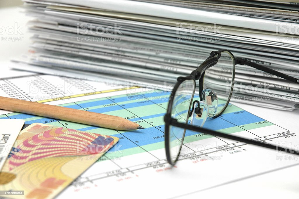 Spreadsheet 2 stock photo