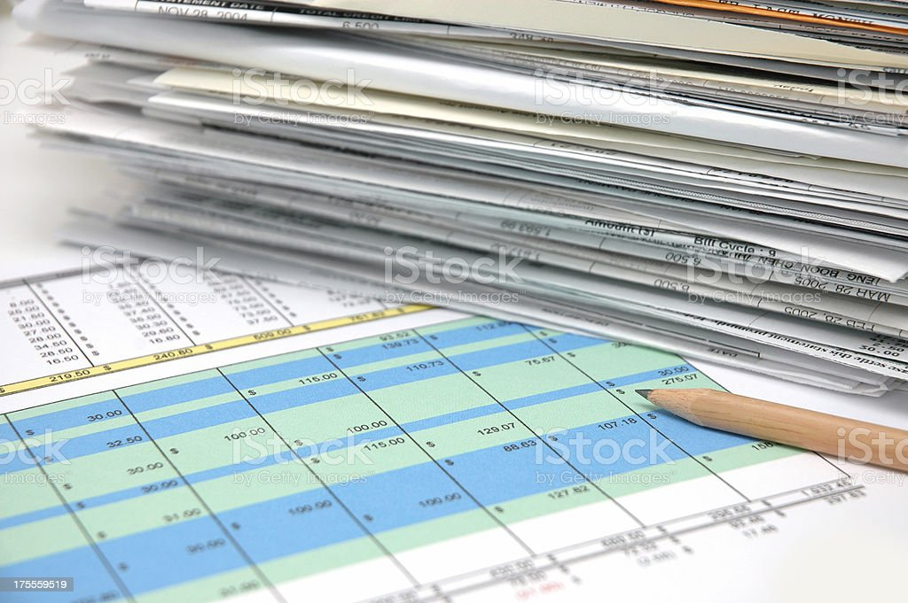Spreadsheet 4 stock photo