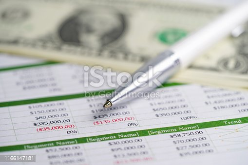 640947656istockphoto Spreadsheet table paper with pen. Finance development, Banking Account, Statistics Investment Analytic research data economy, trading, Mobile office reporting Business company meeting concept. 1166147181