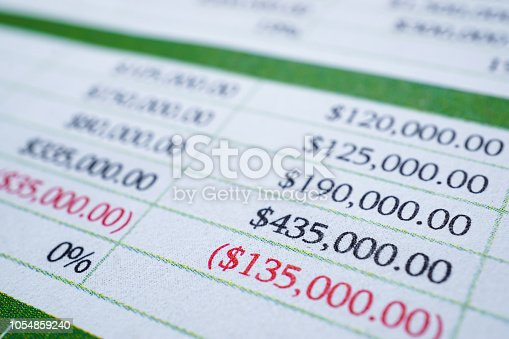 istock Spreadsheet table paper with pencil. Finance development, Banking Account, Statistics Investment Analytic research data economy, trading, Mobile office reporting Business company meeting concept. 1054859240