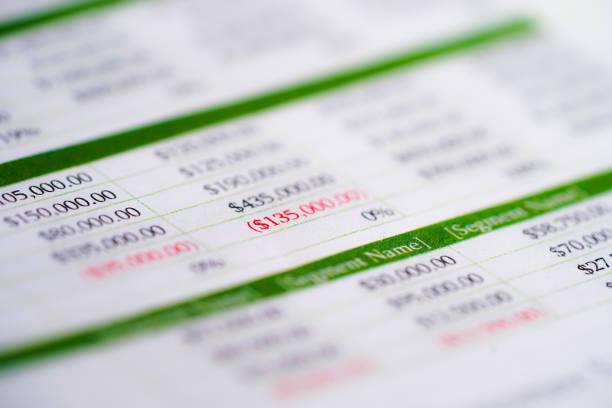 Papier de table de tableur avec le crayon. Développement des finances, compte bancaire, statistiques de l'investissement analyse analytique des données de recherche, Trading, bureau mobile Reporting concept de réunion d'entreprise. - Photo