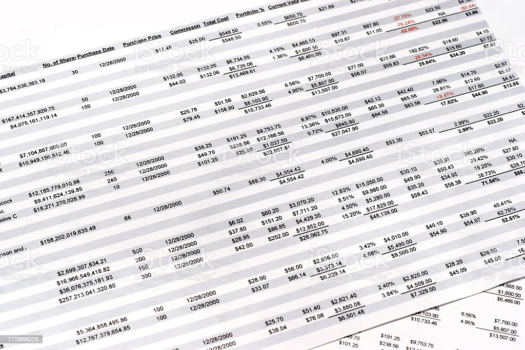 Spreadsheets - 03 stock photo