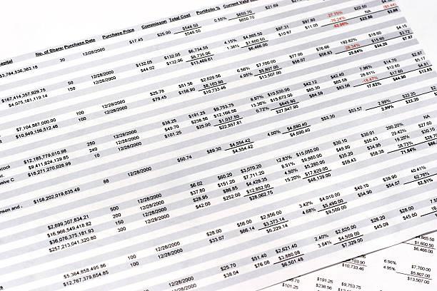 arbeitsblätter - 03 - tabellenkalkulation stock-fotos und bilder