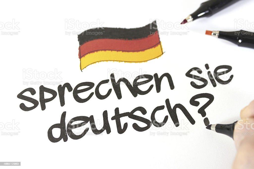 Sprechen sie Deutsch? royalty-free stock photo