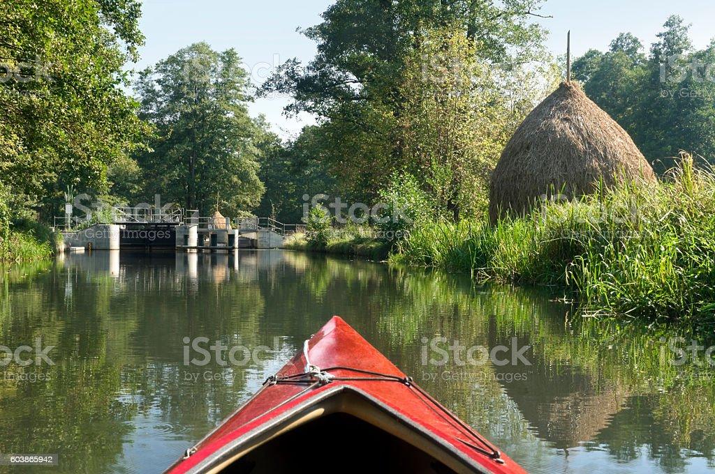 Spreewald - Biosphere reserve by UNESCO in Brandenburg stock photo