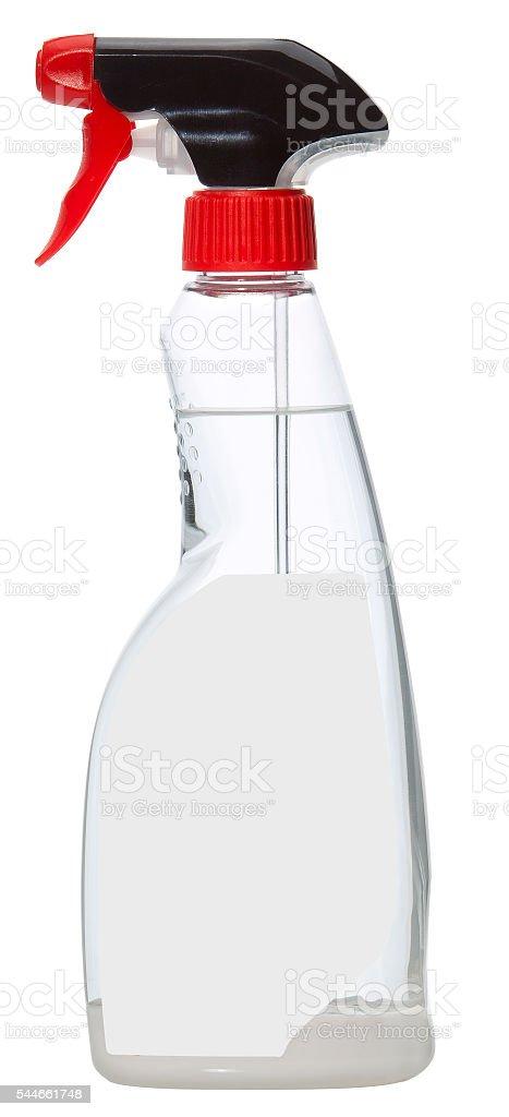 Sprühflasche durchsichtig stock photo