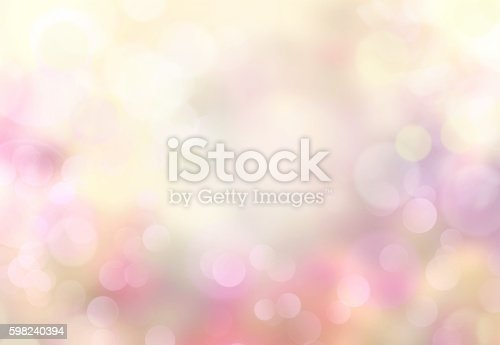 istock Spring abstract blurred bokeh light yellow background. 598240394