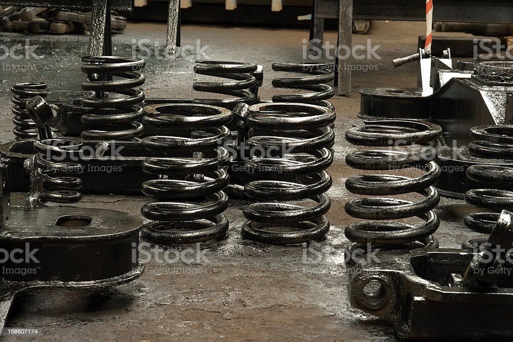 spring amortisation mechanism of chassis royalty-free stock photo