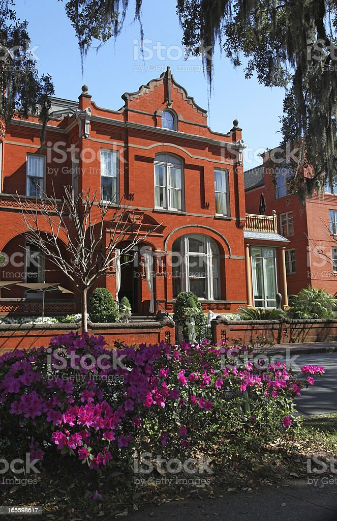 Spring at a Savannah Mansion royalty-free stock photo