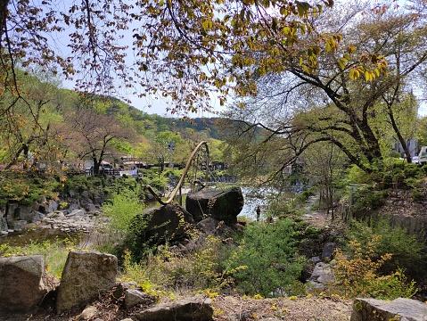 Spring at Anyang Art Park in Korea