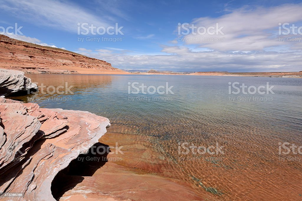 Spring at Lake Powell stock photo