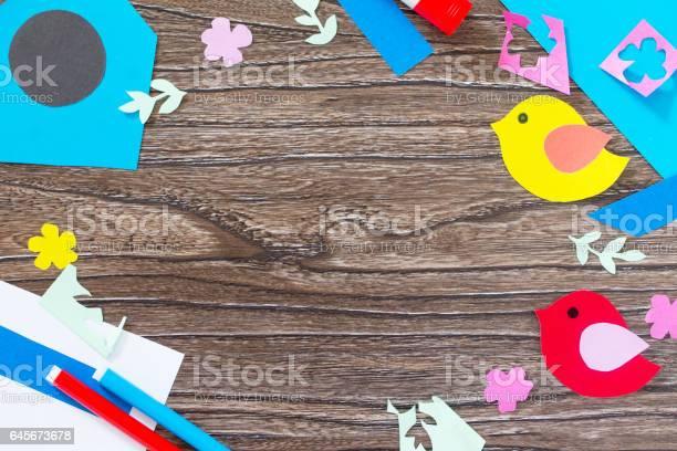 Spring background two birds and a birdhouse craft for kids copy space picture id645673678?b=1&k=6&m=645673678&s=612x612&h=d3p8pz2mwqci 2xdereteia9cmpyz yc8erf4njzmfa=