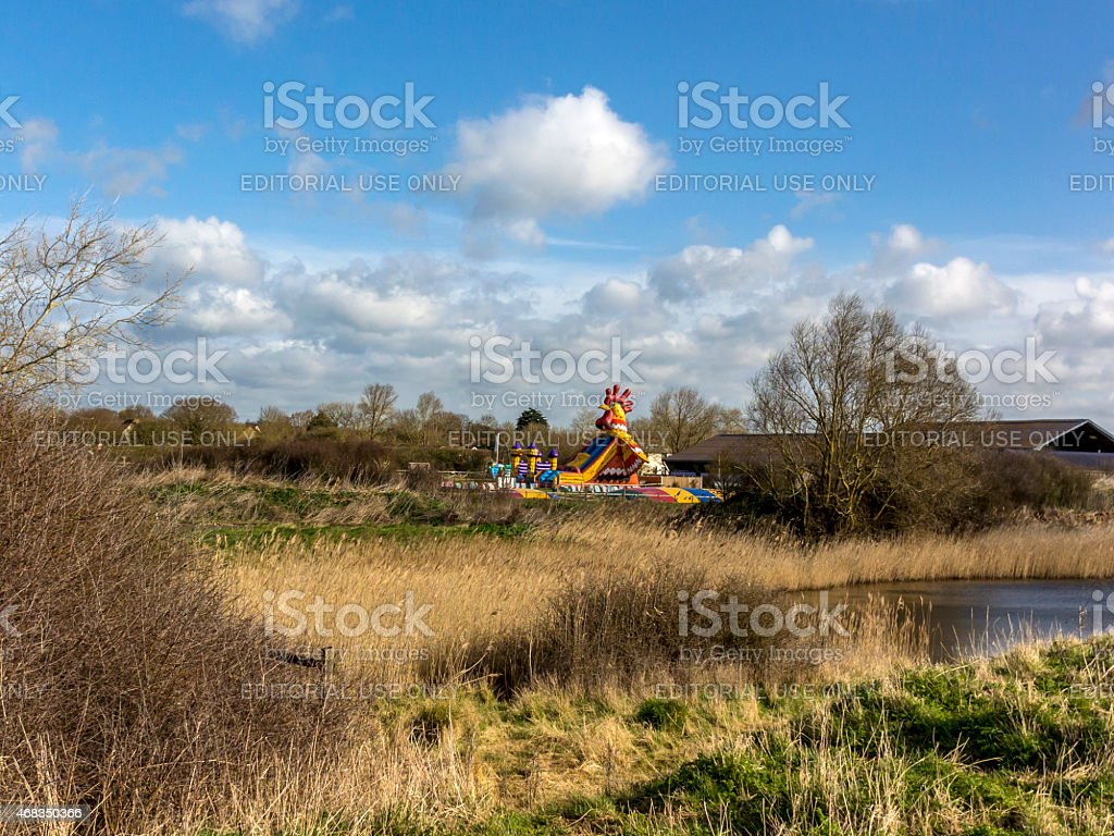 Spring Bank Holiday, Giant Inflatable Cockerel royalty-free stock photo