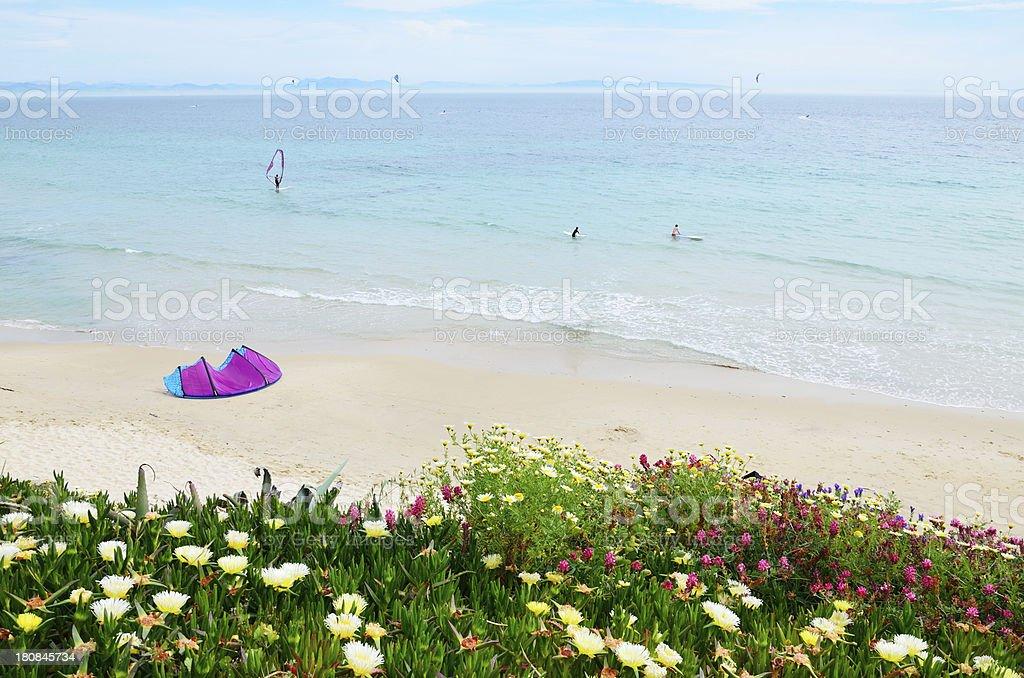 Spring beach Valdevaqueros royalty-free stock photo