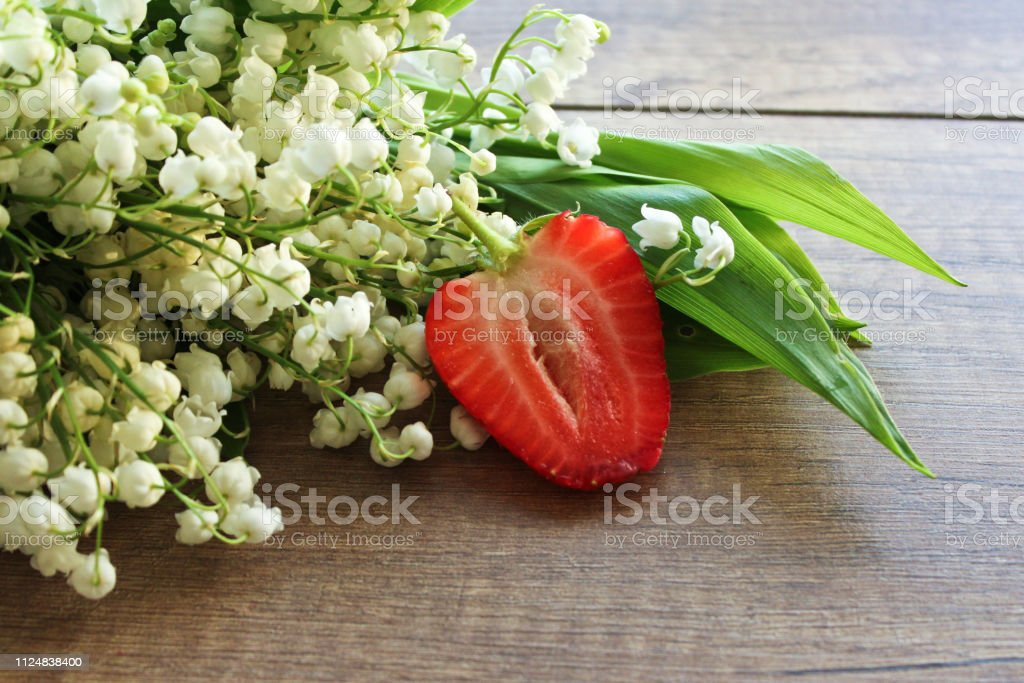 Spring bouquet of lilies of the valley, Lily of the valley on a...