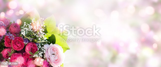 istock Spring bouquet on soft background 1097843584