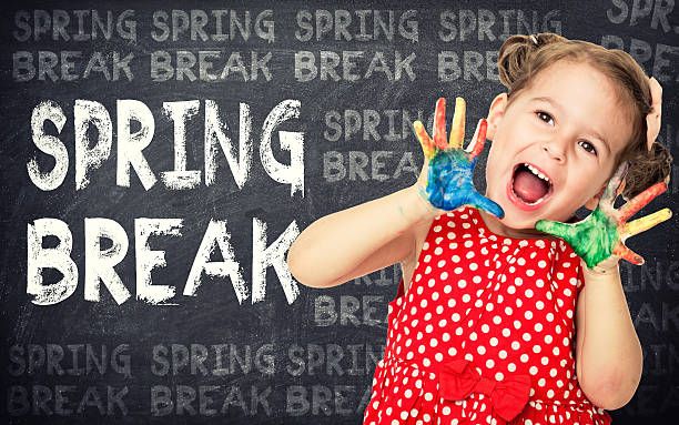 Spring break concept stock photo
