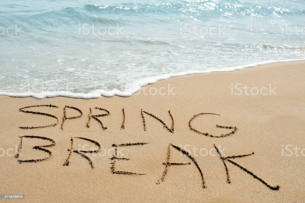 spring break on the beach stock photo