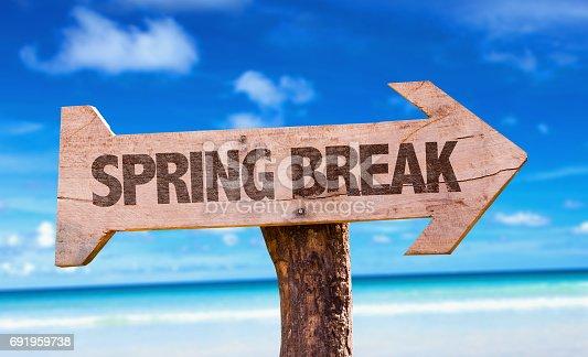 istock Spring Break sign 691959738