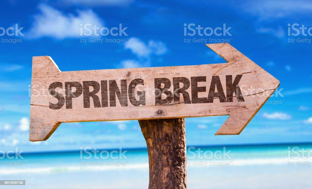 Spring Break sign stock photo