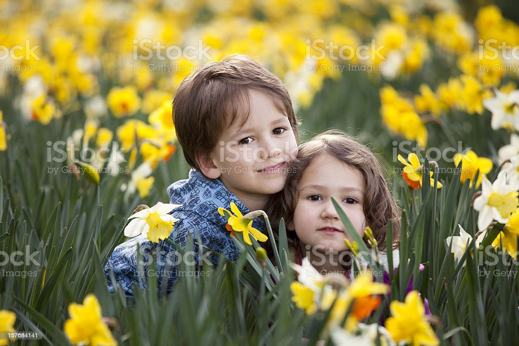 Spring children royalty-free stock photo