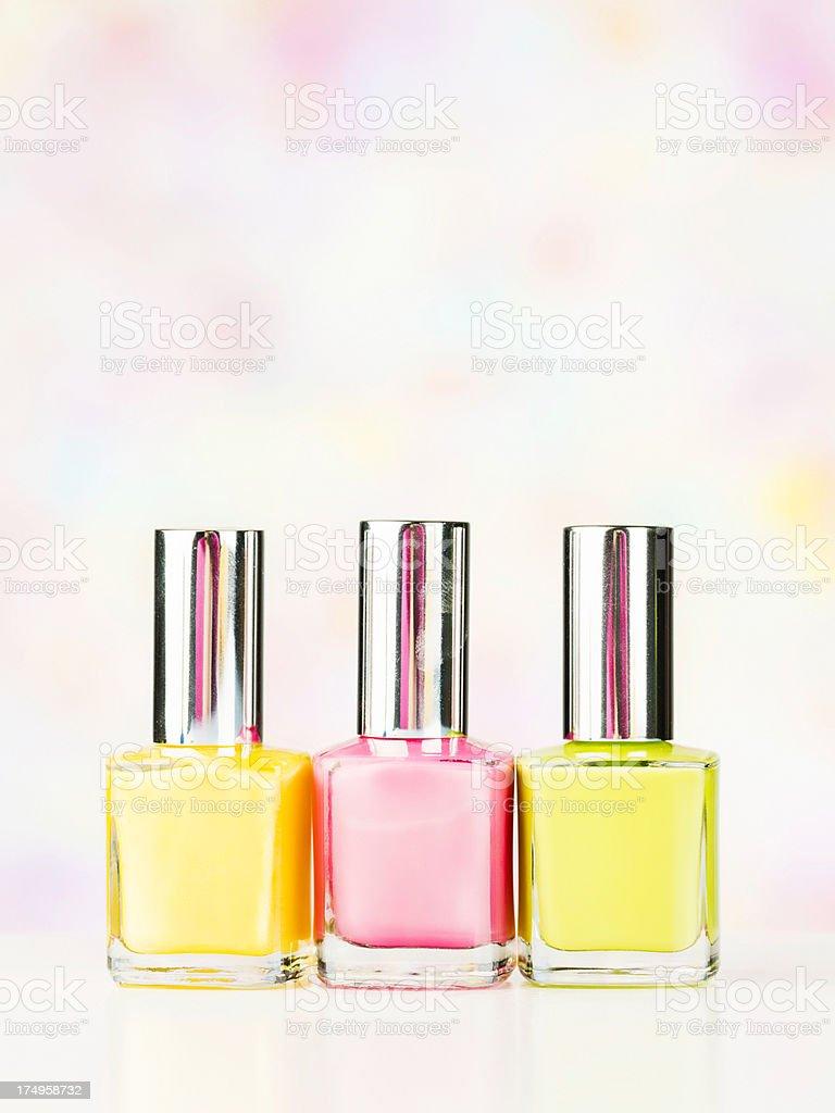 Spring Colored Nail Polish royalty-free stock photo