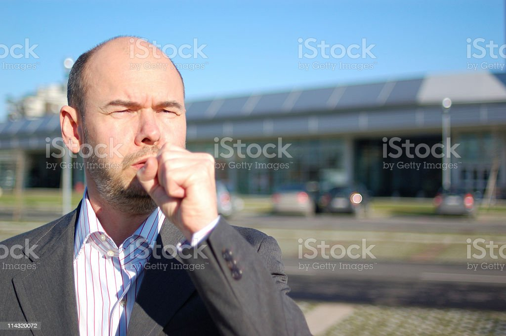 Spring Coughing royalty-free stock photo