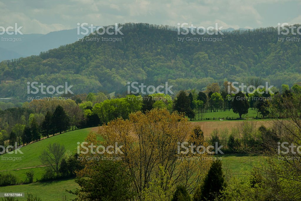 Spring, Countryside, East Tennessee stock photo