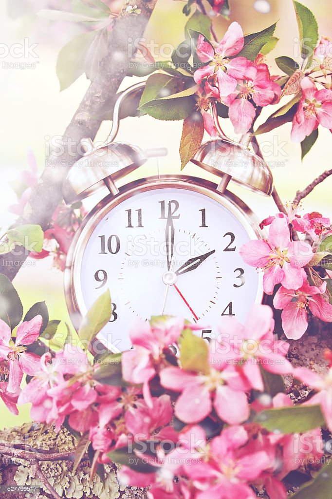 Spring Daylight Savings Time stock photo