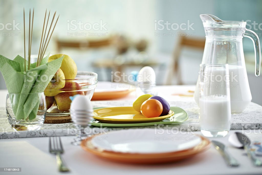 Spring dining royalty-free stock photo