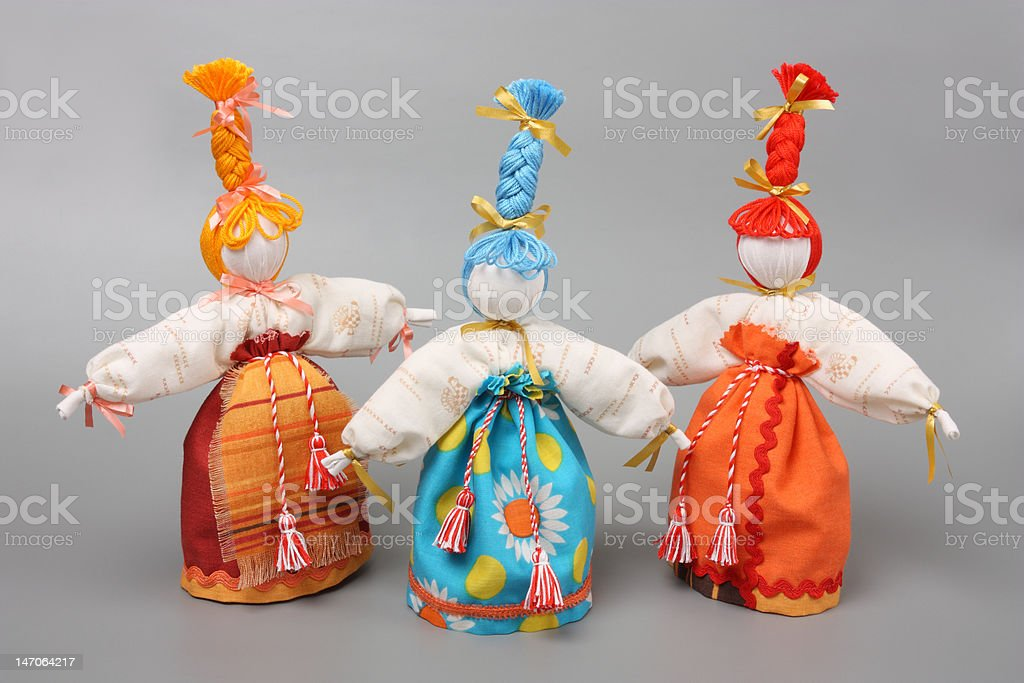 'Spring dolls' royalty-free stock photo