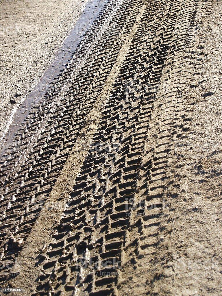Spring Driving Mud royalty-free stock photo
