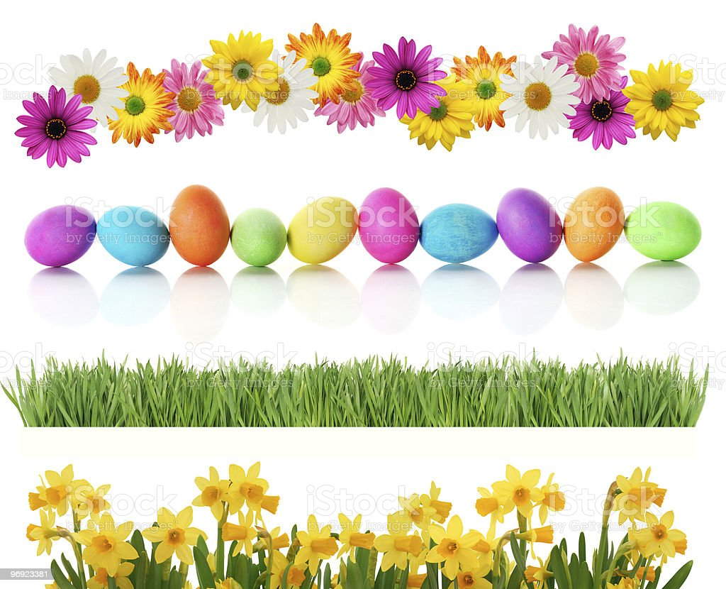 Spring Easter borders stock photo