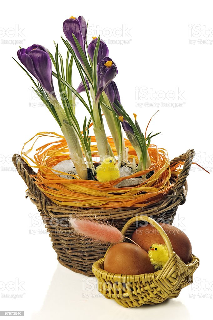 Spring easter still-life royalty-free stock photo