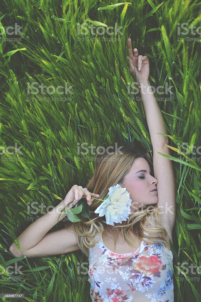 Spring fairy stock photo