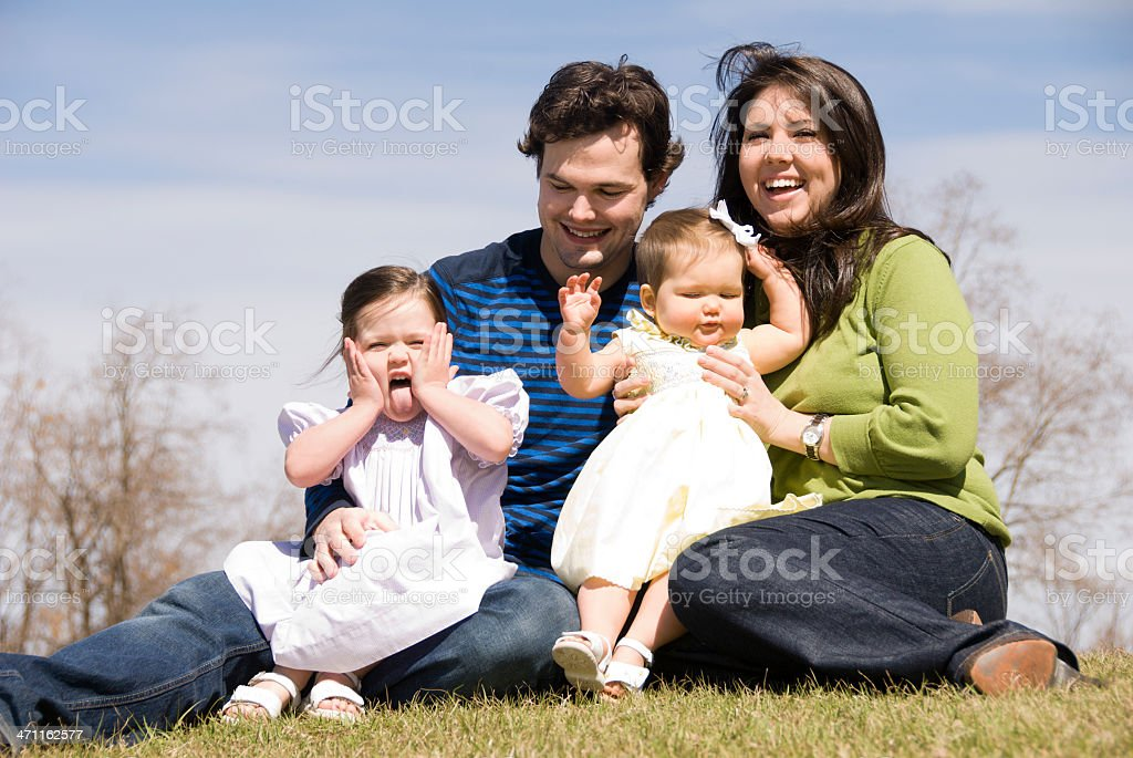 Spring Family Outdoor Portrait royalty-free stock photo
