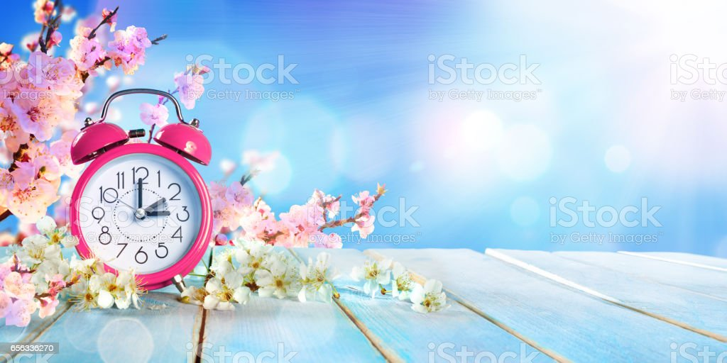 Spring Farward Time - Savings Daylight Concept stock photo