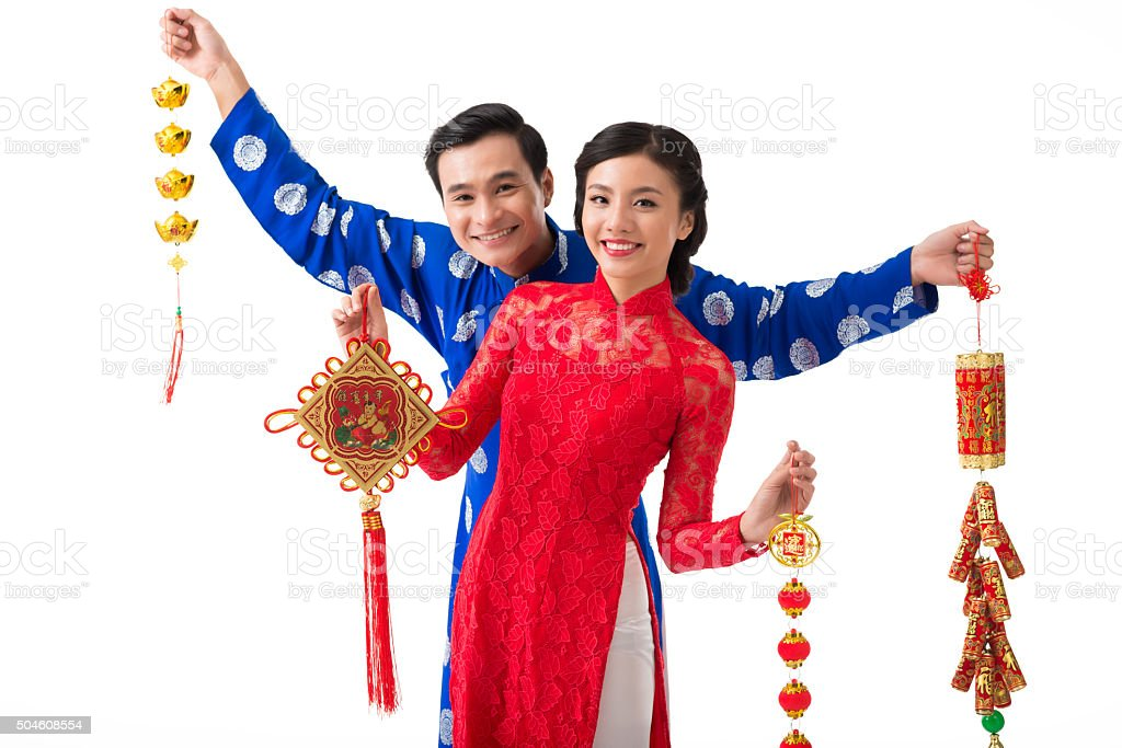 Spring festival decorations stock photo