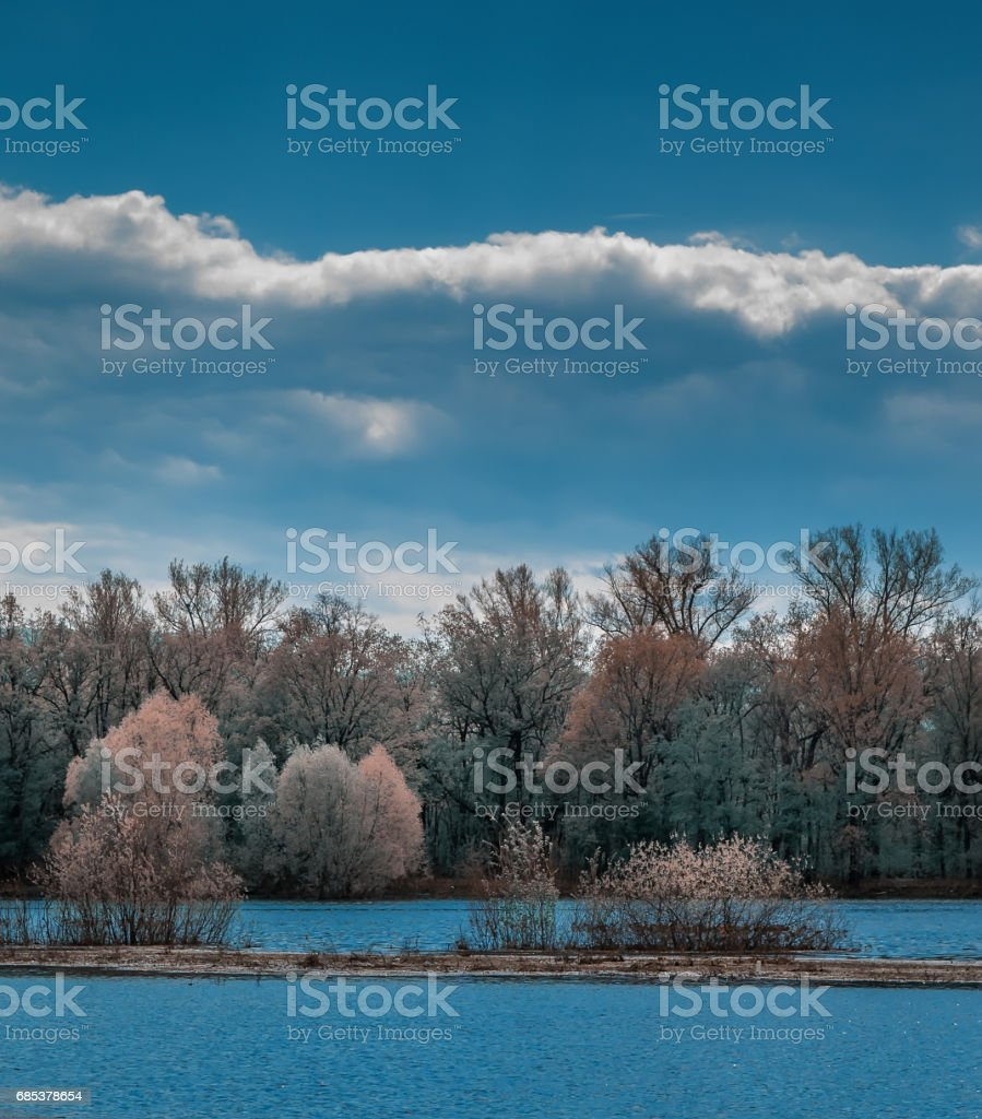 Spring flood. royalty-free stock photo