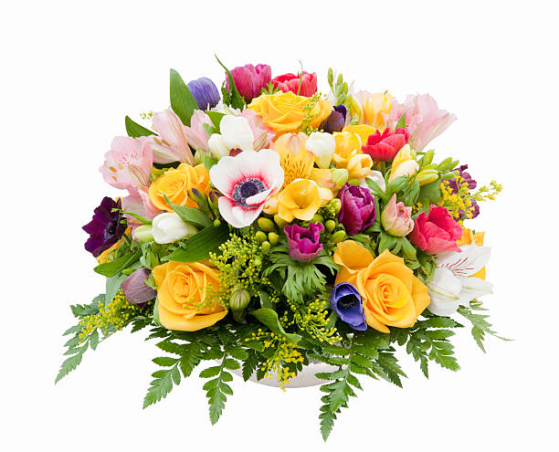 spring flower assortment - bunch stock photos and pictures