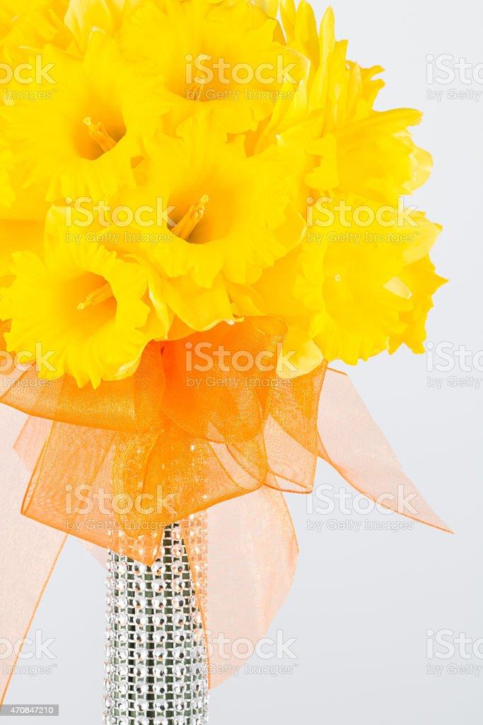 Spring flower wedding bouquet stock photo